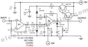 Микрофонные усилители.  Скачать схему микрофонного усилителя на lm358d.